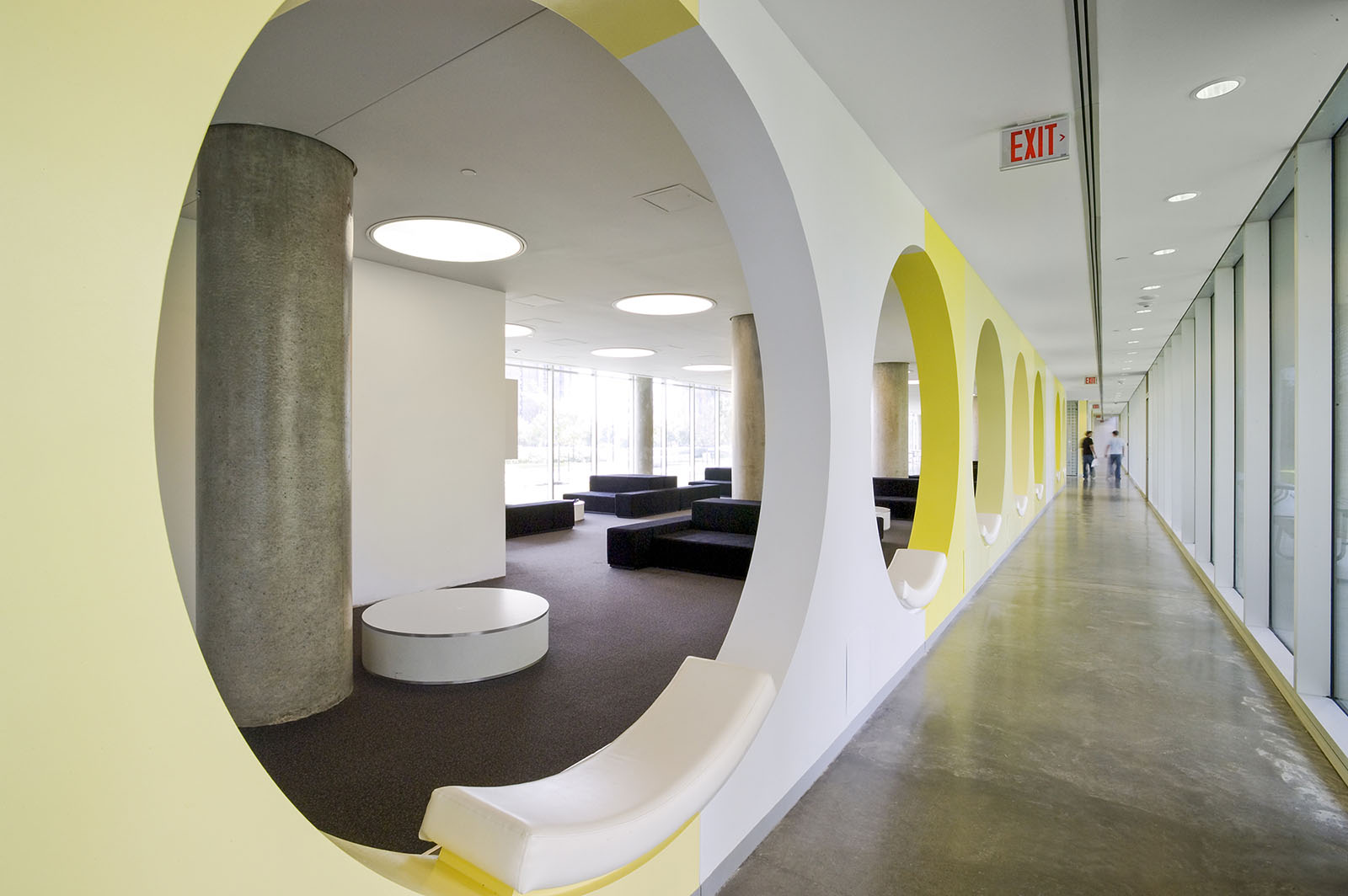 Student lounge at York University residences, Toronto, Ontario