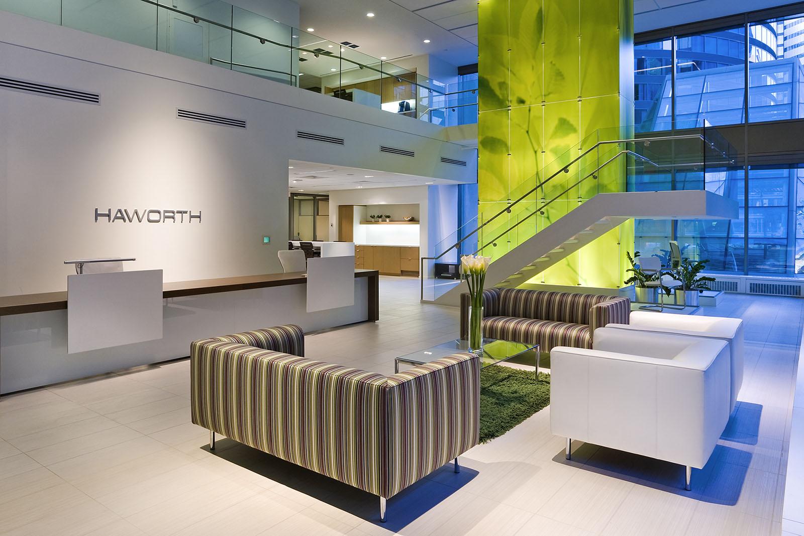 Haworth office furniture showroom, Toronto, Ontario