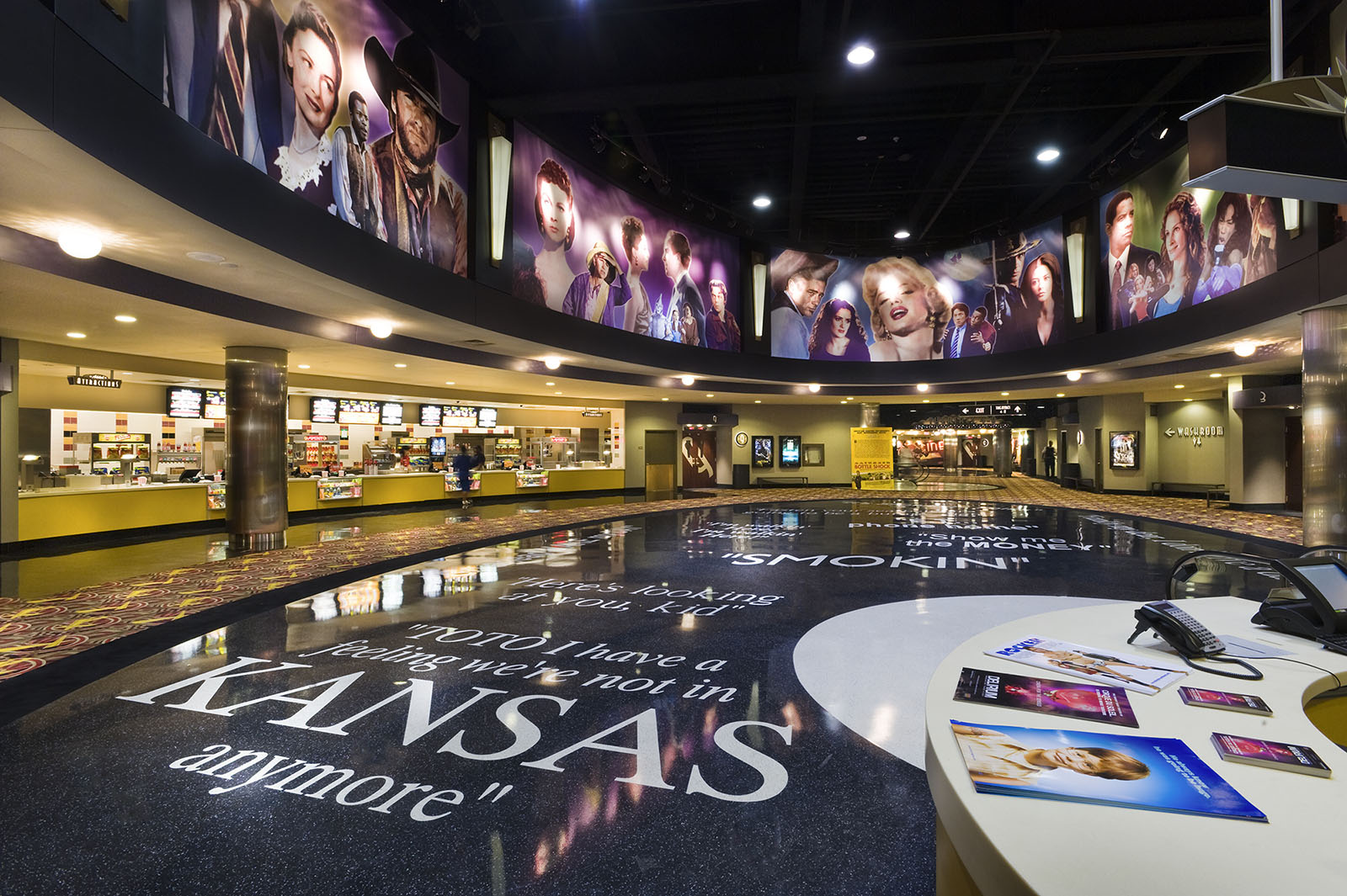 Main concourse at AMC Theatres, Yonge Dundas Square, Toronto, Ontario