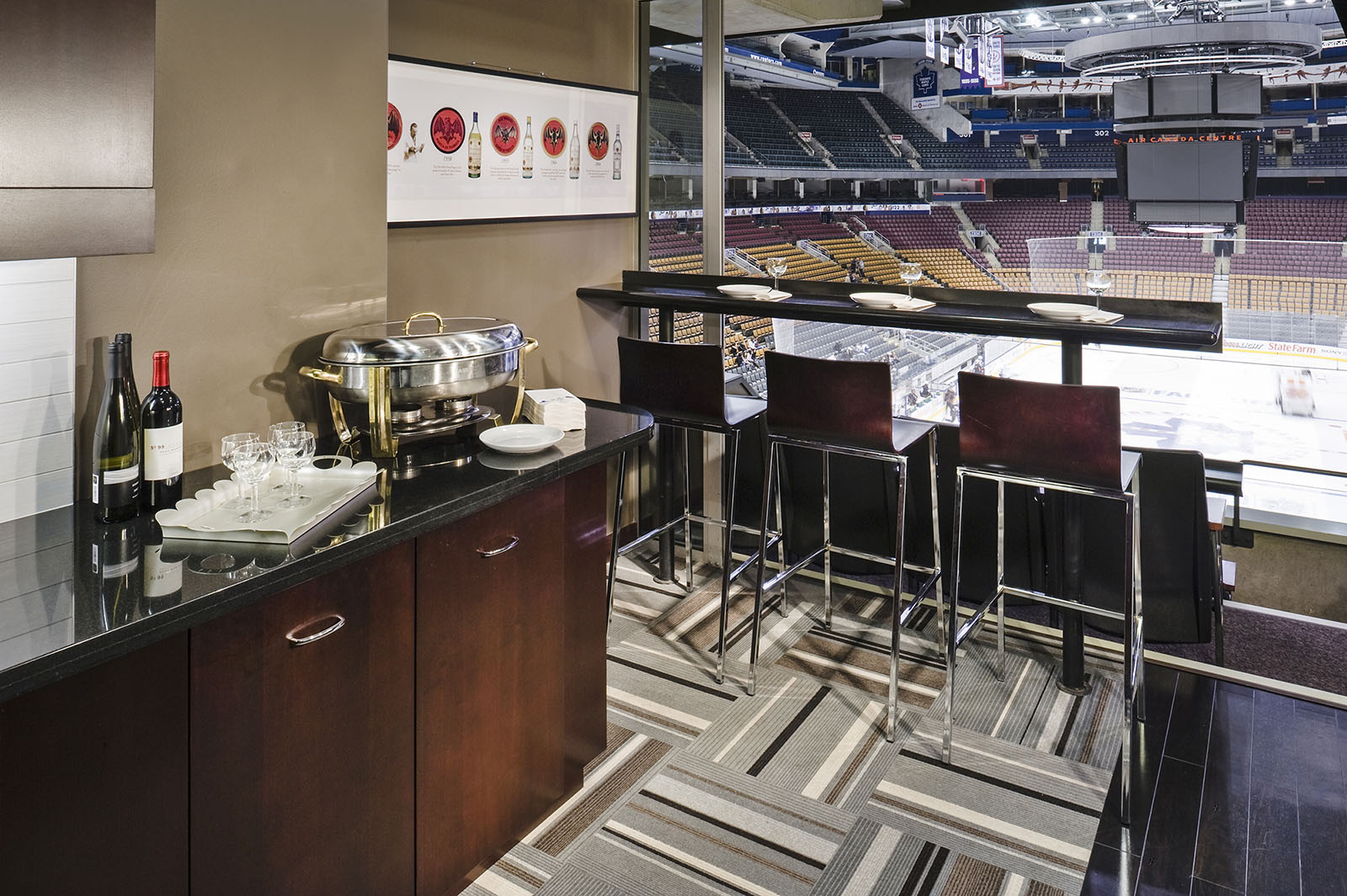 Executive suite at Air Canada Centre, Toronto, Ontario