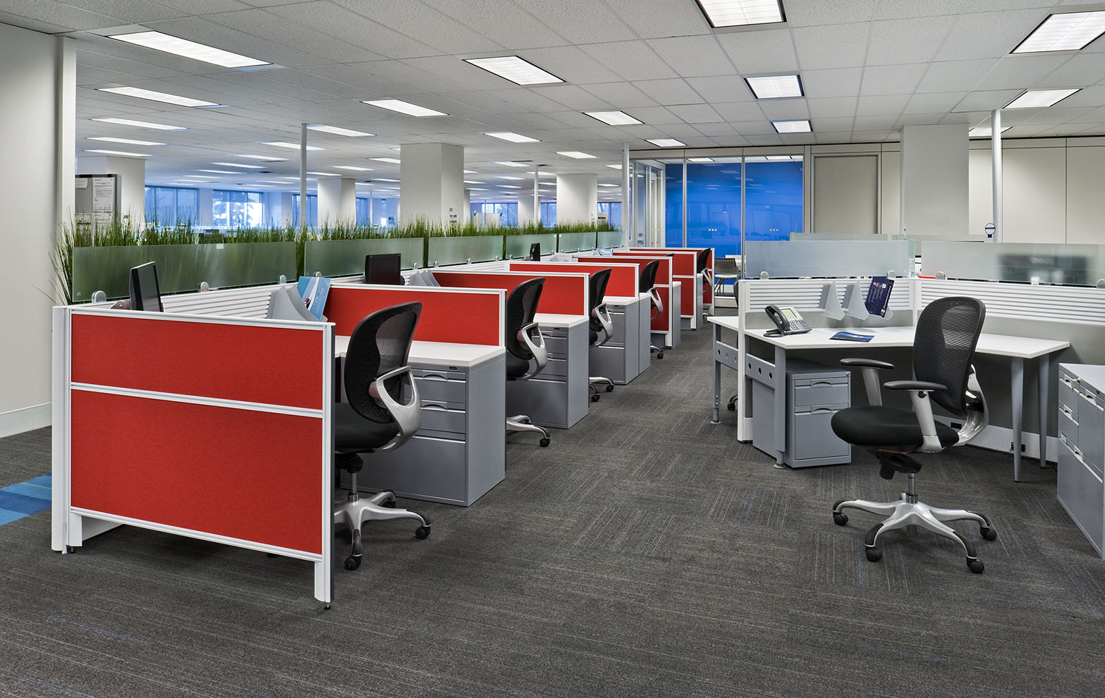 Work stations at Kuehne and Nagel offices, Mississauga, Ontario