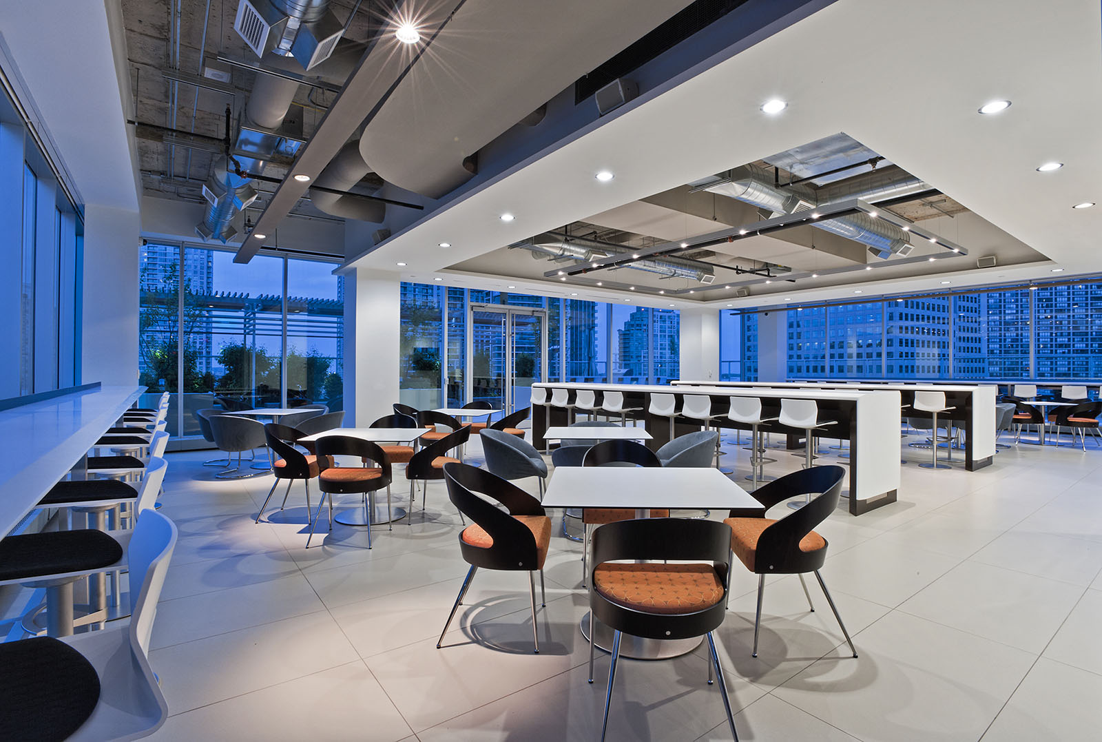 CI Financial offices cafeteria, Toronto, Ontario -