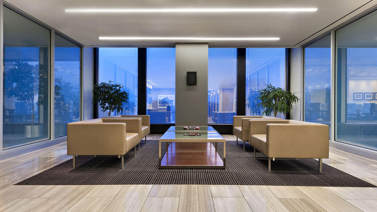 Stifel offices reception area, Toronto, Ontario