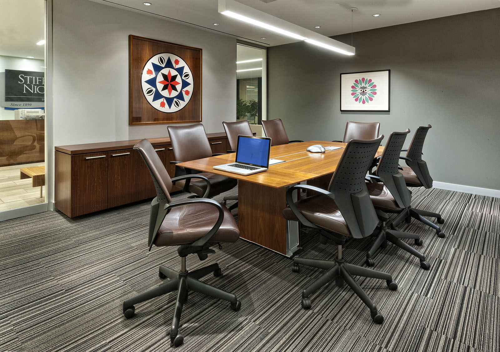 Meeting room in Stifel offices, Toronto, Ontario