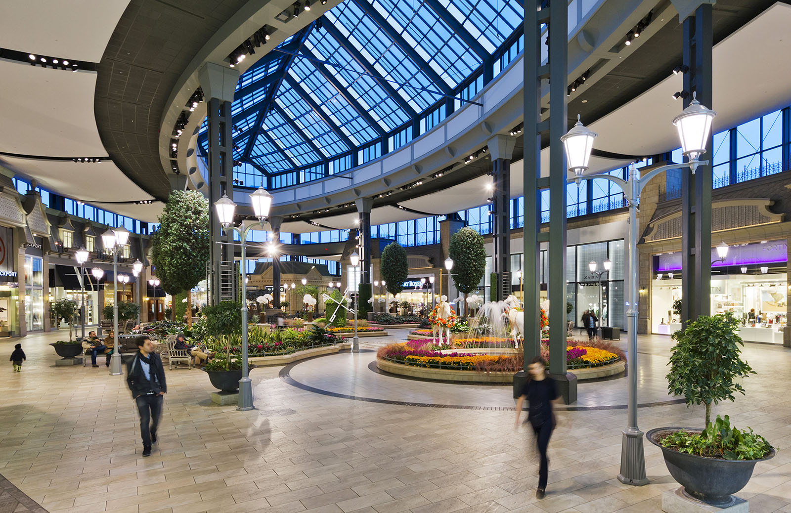 View of Garden Atrium at Carrefour Laval Shopping Centre, Montreal, Quebec
