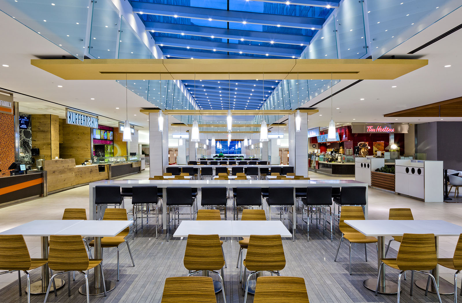 WaterPark Place office building, food court, Toronto, Ontario