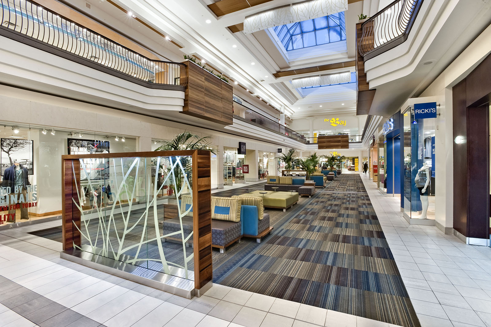 Interior view of Pickering Town Centre Shopping Mall