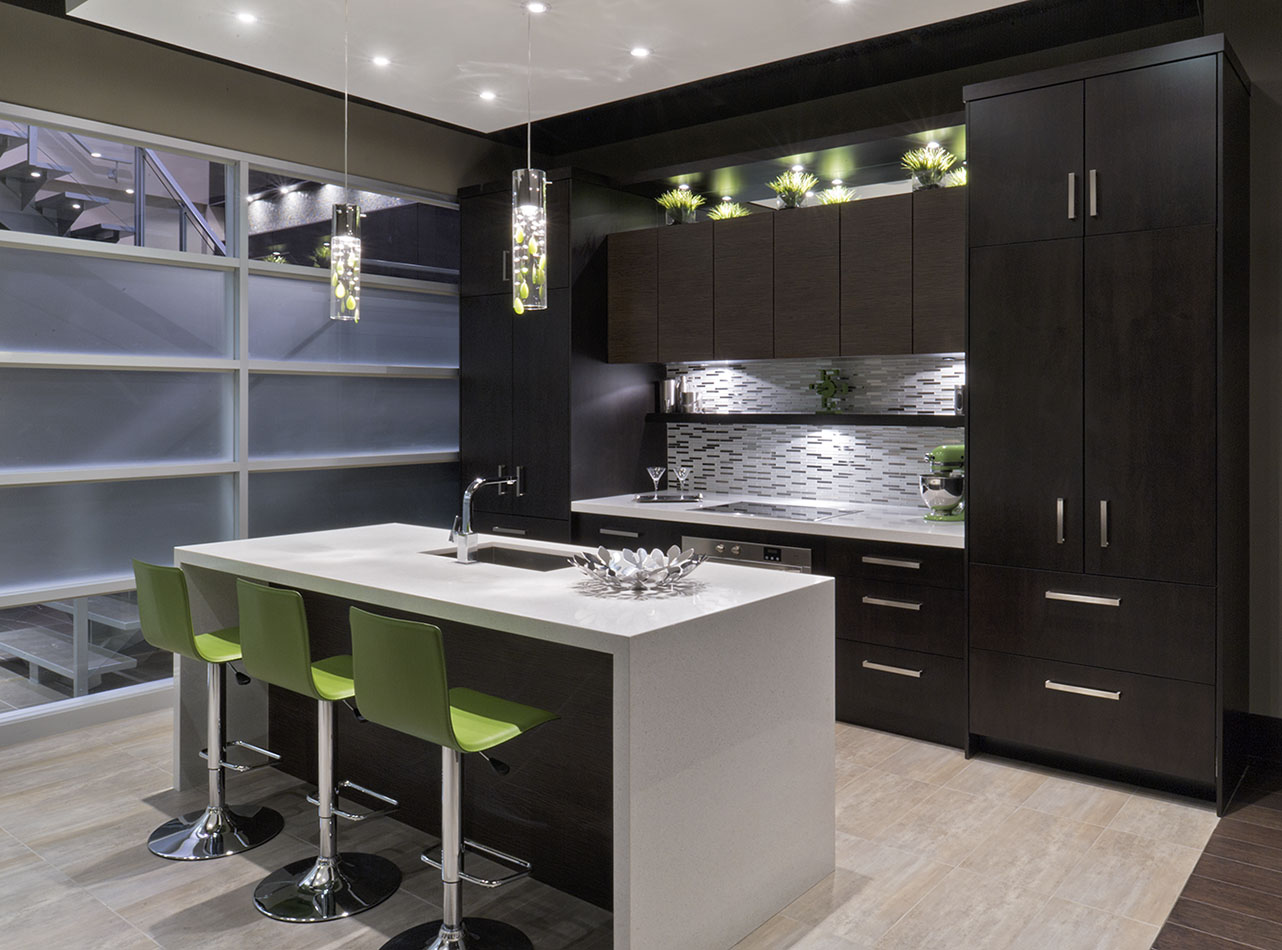 Mosaik Homes Showroom, Toronto, Ontario, model kitchen