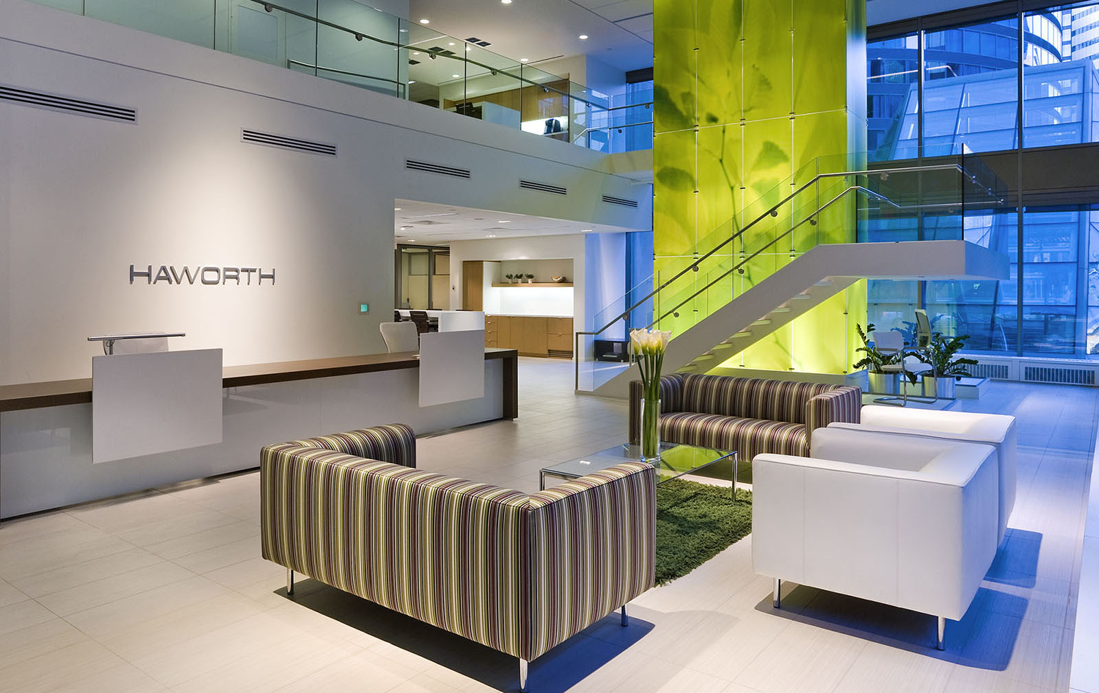 Haworth office furniture showrooms, Toronto, Ontario