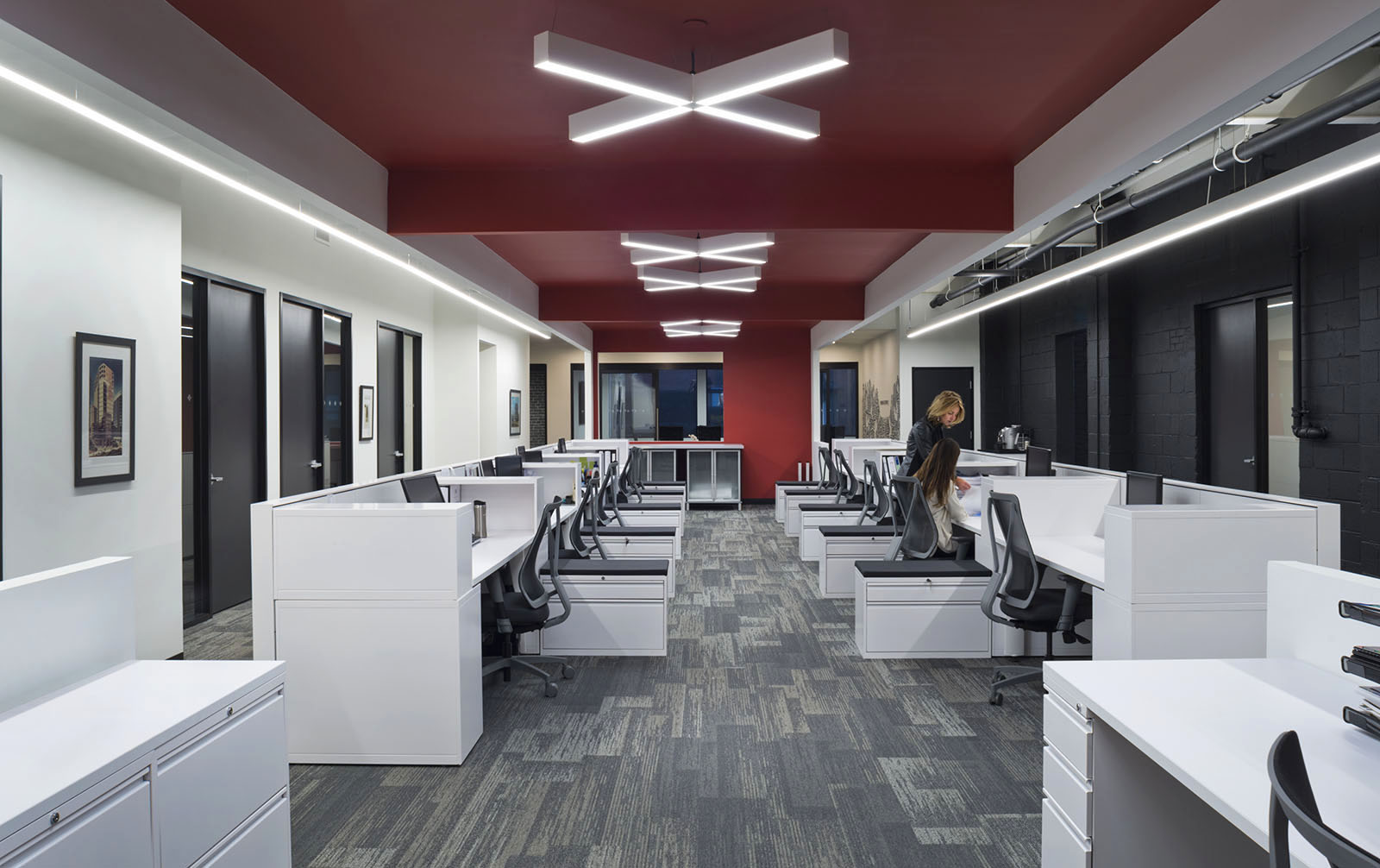 Downing Street Group offices, Toronto, workstations