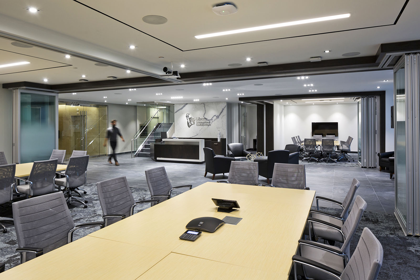 Liberty International Underwriters office reception area and meeting rooms