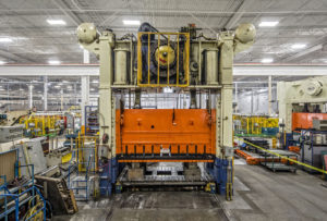 Automotive stamping press at Martinrae Automotive industrial plant, Toronto