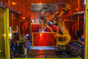 Robotic welder at Martinrae Automotive, Toronto