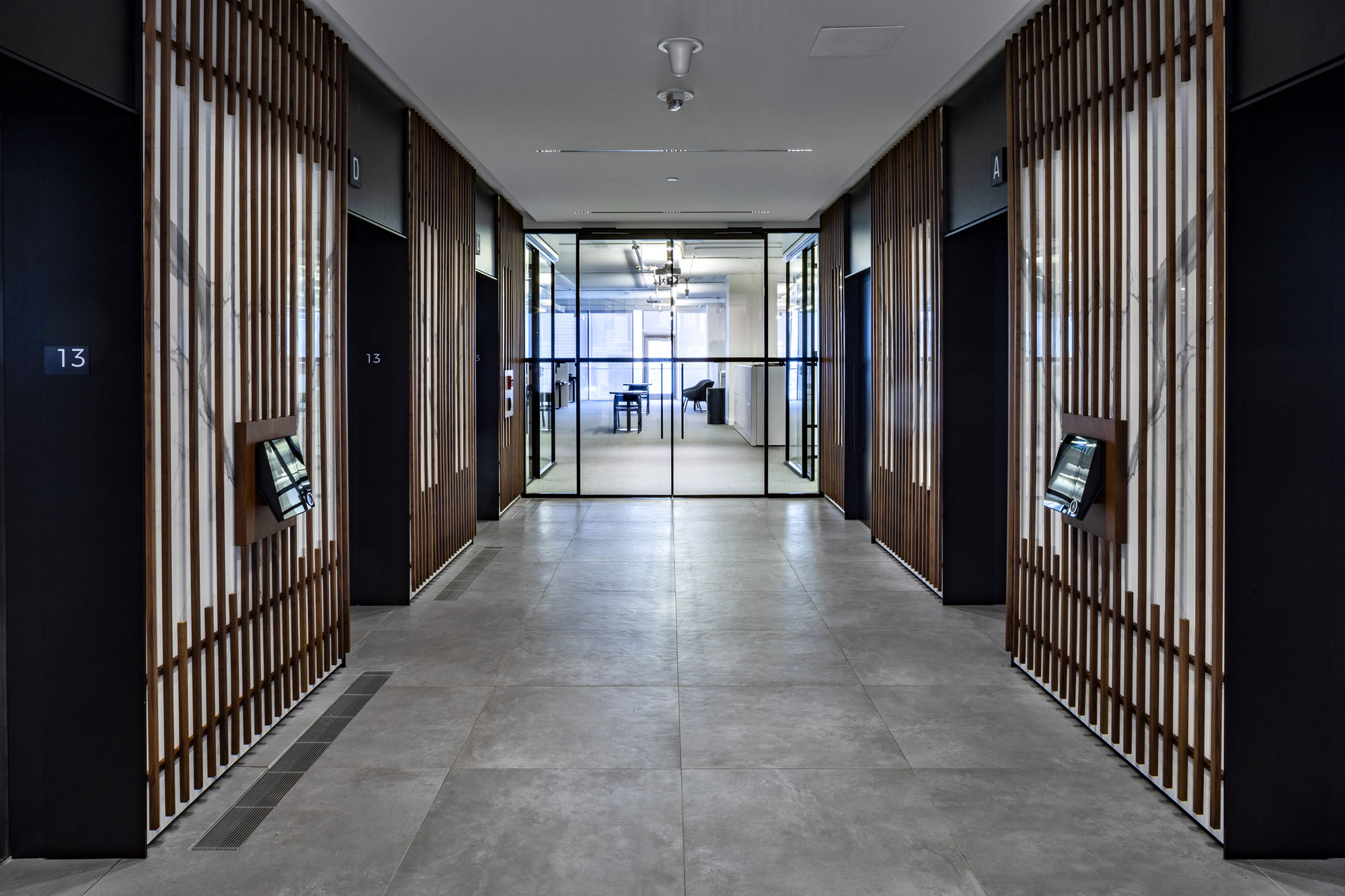 First Gulf offices elevator lobby