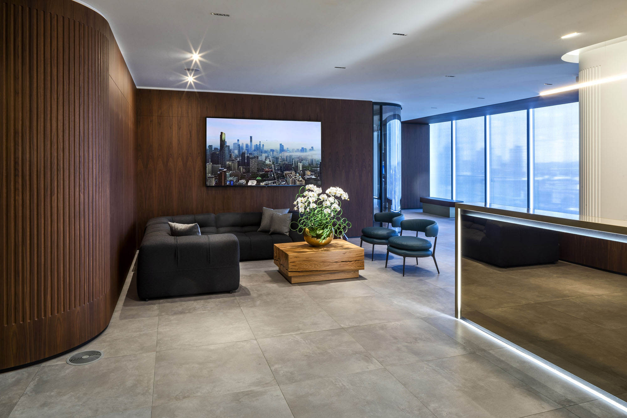 First Gulf offices reception area