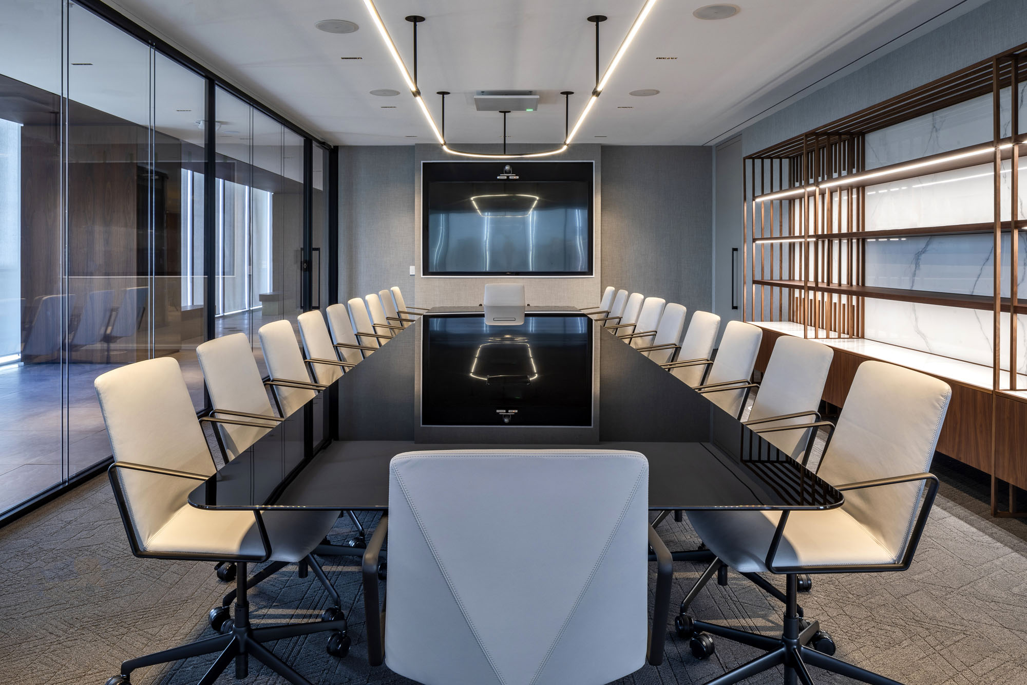 corporate boardroom at First Gulf offices